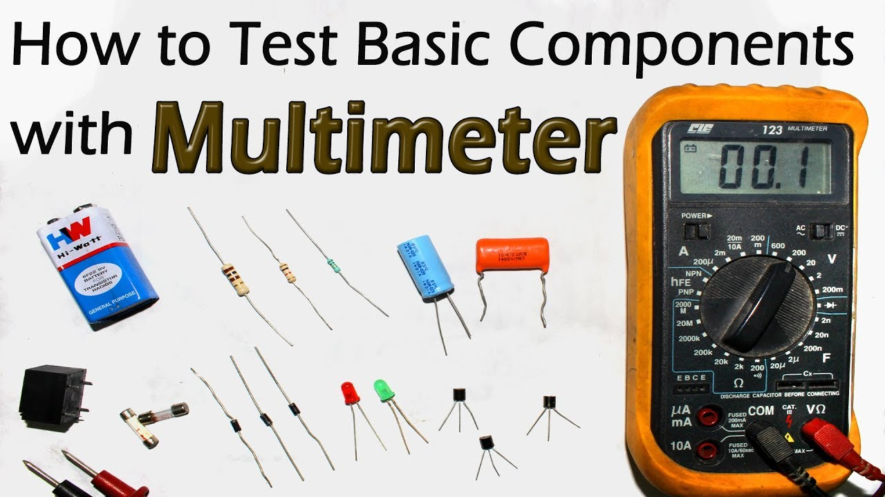 How To Test All Electronic Components With Multimeter Resistor