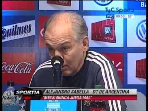 Sabella describiendo el fenomeno Messi