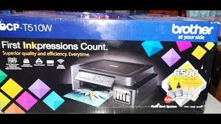 Brother DCP - T510W All in One Color printer Un-boxing and Printer tips.