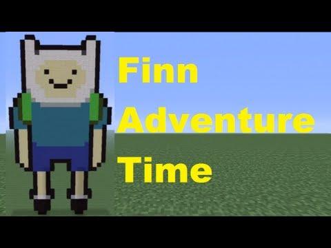Minecraft Pixel Art: Finn Tutorial