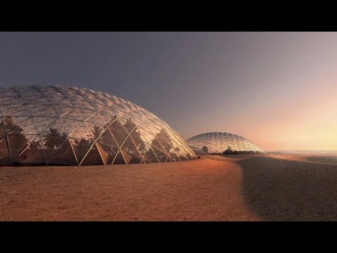 Giant simulation of the city of Mars: designed by one of the most striking architects in the world.