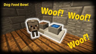 Minecraft - How to make a Dog Food Bowl