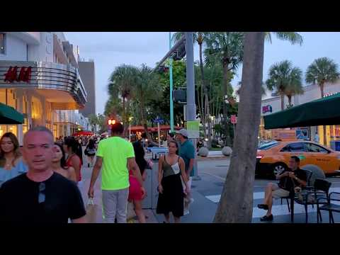 Lincoln Road Mall Walk - Miami Beach - Restaurants , Shops, Places And Vibes.