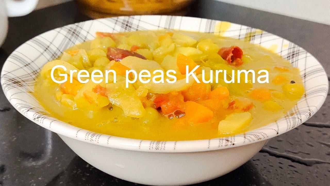 Green Peas Kuruma/Kerala Nadan Green peas curry/Veg Kuruma for Chapathi,Paratha,Nan & Palappam/