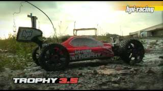 видео HPI Trophy 3.5 Buggy 4WD 2.4Ghz (влагозащита)