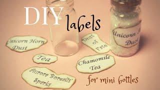 Diy Labels For Bottle Charms ~ Come Fare Le Etichette Per Bottigliette