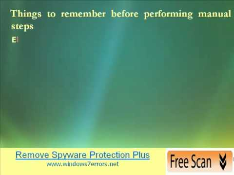 Spyware protect 2009 info & manual removal guide youtube.