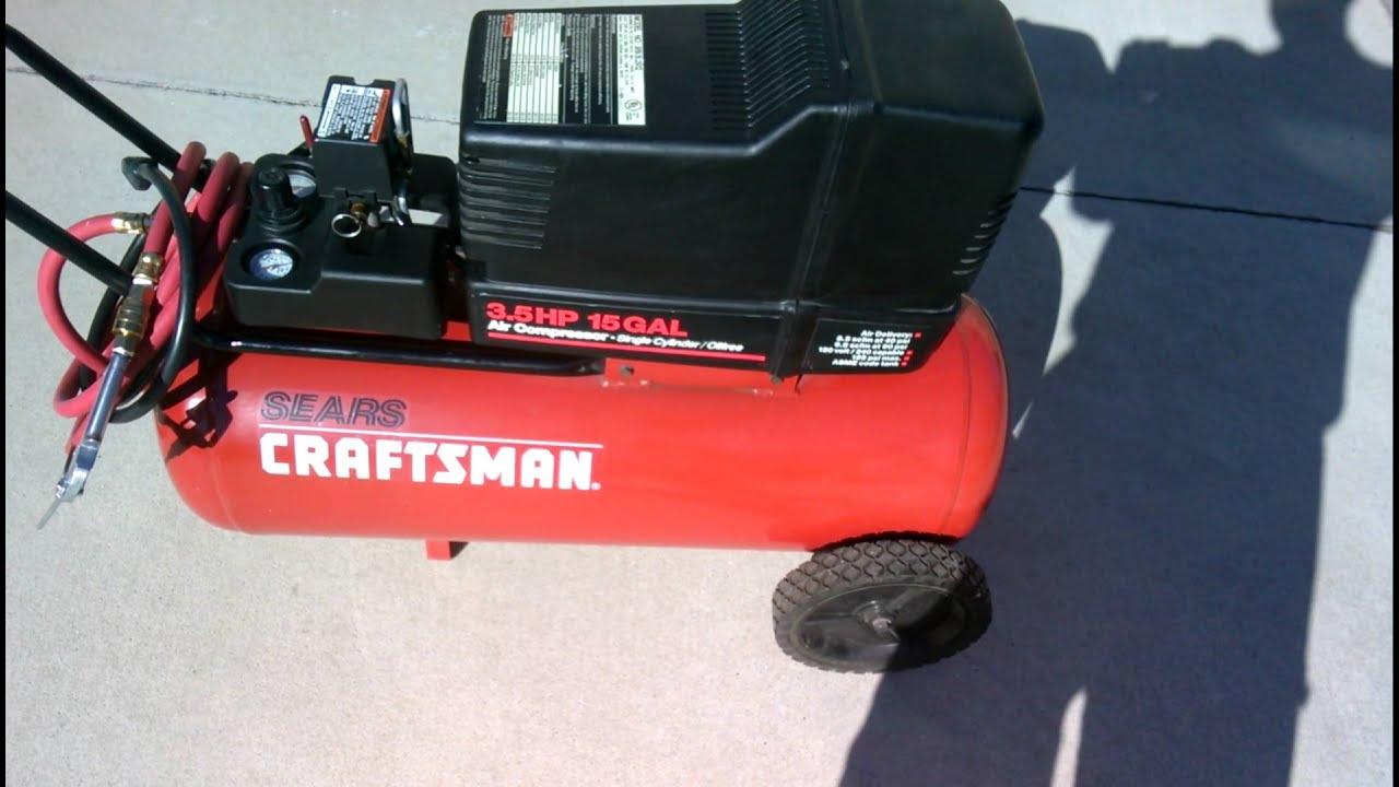 Craftsman Air Compressor 15 Gallon 3 5 Hp 165 Ontario