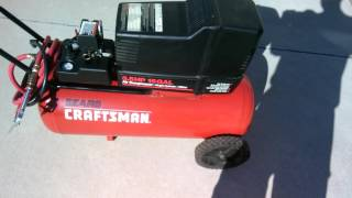 craftsman air compressor 15 gallon 3 5 hp 165 ontario calif