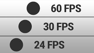 24 FPS vs 30 FPS vs 60 FPS