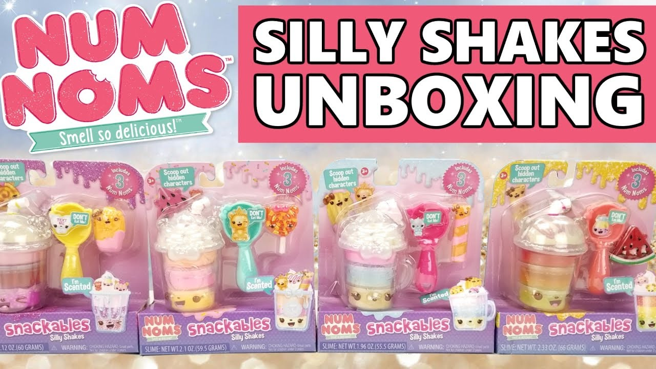 New Num Noms Snackables Silly Shakes Unboxing Scented Slime