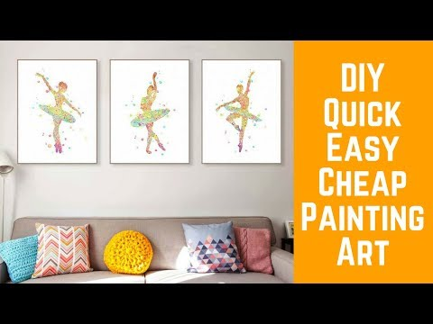 😉 Quick Cheap Easy Modern Color Art Painting Ballet Dancer Girl Room Wall Home Decoration