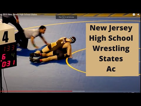 Wrestling 2019 New Jersey High School States.