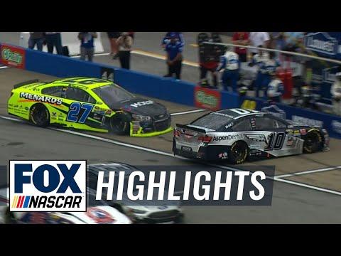 Danica Patrick Hit on Pit Road - Talladega - 2016 NASCAR Sprint Cup