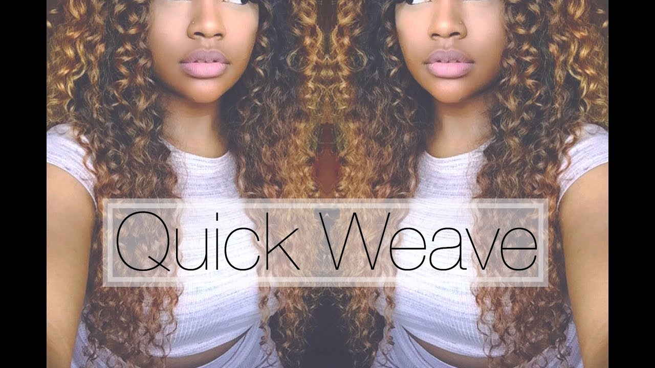Quick Glue In Weave With No Leave Out Youtube