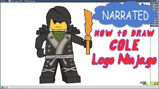 How to Draw Cole from Lego Ninjago (NARRATED)
