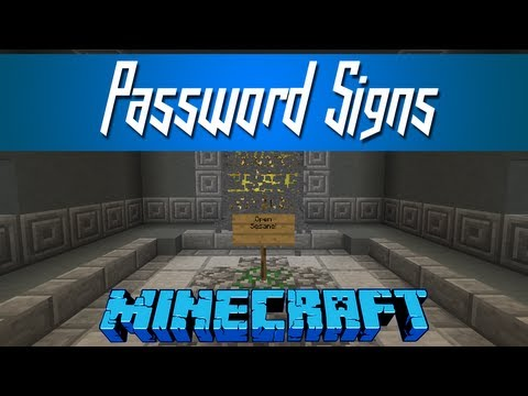 Minecraft - Password Signs