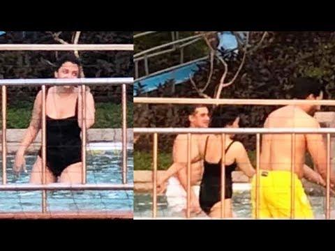 Aishwarya Rai Bachchan Looks Sizzling In A Black Monokini In Goa With Abhishek And Aaradhya