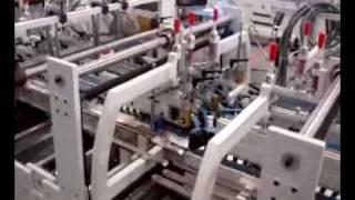 Engomadora plegadora de cajas 4 y 6 puntas automática