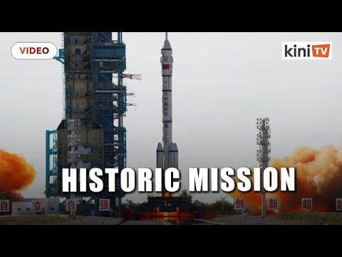 Chinese astronauts board space station module in historic mission