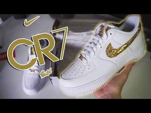 28064dfc131 SHOE OF THE YEAR?! - Cristiano Ronaldo CR7 Air Force 1 UNBOXING ...
