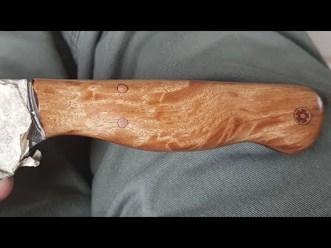 making a knife handle with a angle grinder