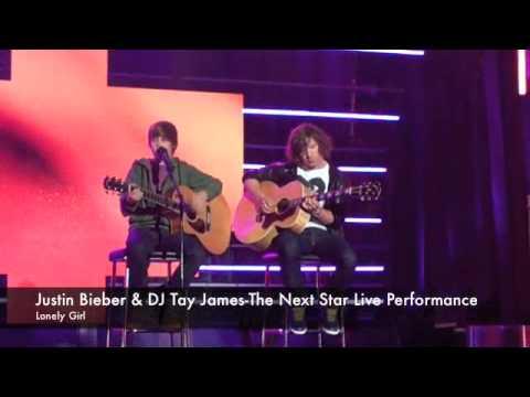 JUSTIN BIEBER & DJ TAY JAMES- THE NEXT STAR PERFORMANCE