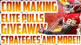 COIN MAKING, INVESTING, ELITE PULLS, AND MADDEN MOBILE 17 GIVEAWAY!!