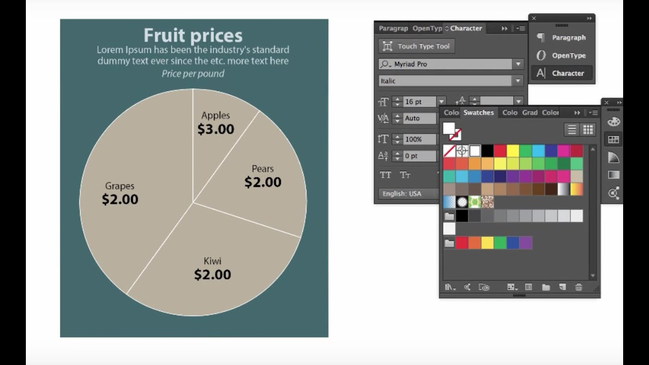 How To Make A Simple Pie Chart In Adobe Ilrator Cc