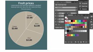 Adobe Illustrator CC Basit bir Pasta Grafiği Yapmak için nasıl