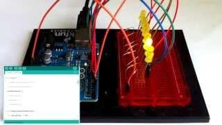 Уроки arduino. Урок 4. Множество светодиодов