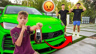 STOLEN Lamborghini PRANK on Lucas & Marcus! **They Got Mad** | The Royalty Family