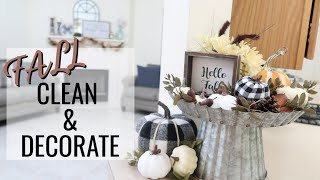 CLEAN AND DECORATE WITH ME 2019 // FALL HOUSE TOUR // FALL FARMHOUSE DECORATING IDEAS