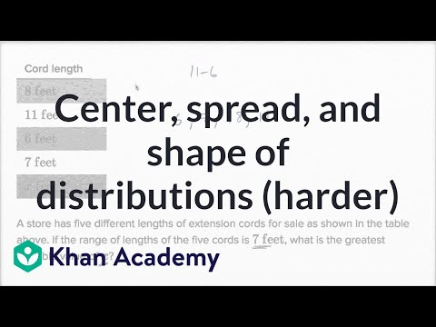 Center, Spread, And Shape Of Distributions — Harder Example | Math | New SAT | Khan Academy