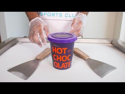 CADBURY HOT CHOCOLATE ICE CREAM ROLLS - SATISFYING ASMR