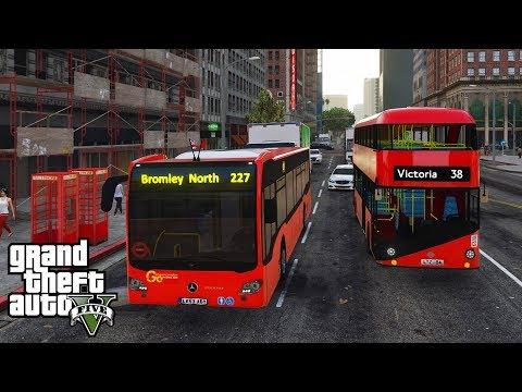 GTA 5 REAL LIFE MOD! | S1 E8 | BUS WANKERS!! (TFL LONDON BUS MOD)