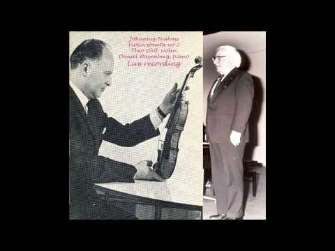 Theo Olof, violin Daniel Wayenberg, piano - Brahms violin sonata 2 live