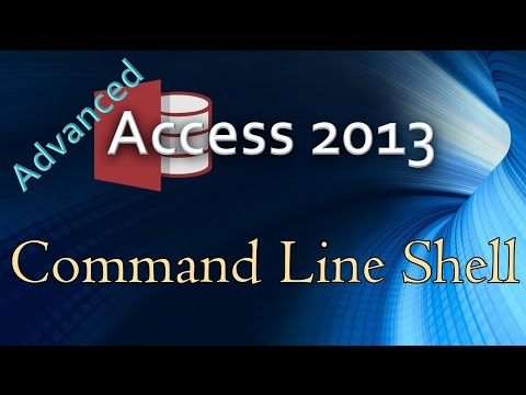 32.  (Advanced Programming In Access 2013) Running A Command Line Shell