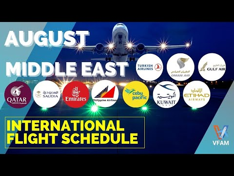 🛑AUGUST 2021 INTERNATIONAL FLIGHT SCHEDULE TO/FROM PHILIPPINES FROM/TO THE MIDDLE EAST