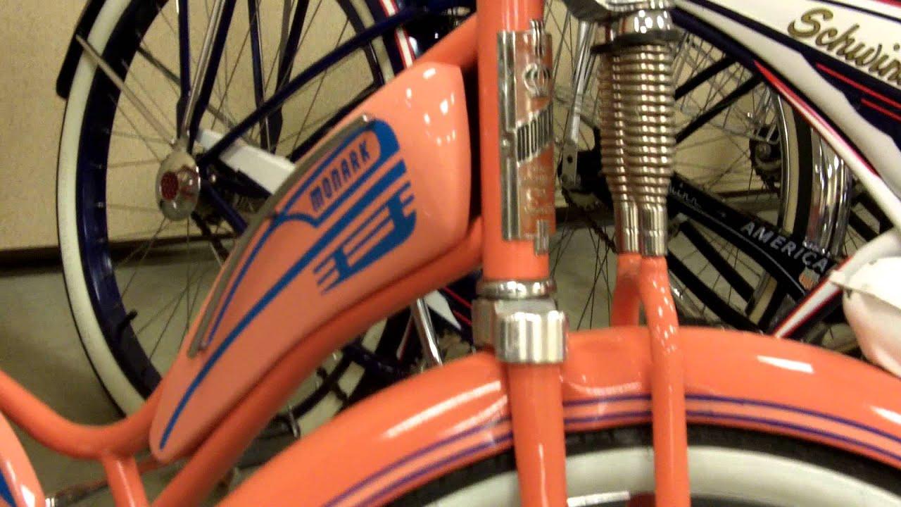 1947 Beige Pink Monark Super Deluxe Bicycle Youtube Copyright 2006 Bicycledesignercom Premium