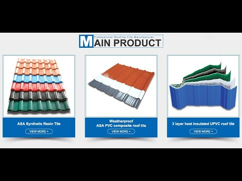 PVC Roof Tiles - Wholesale Suppliers form China