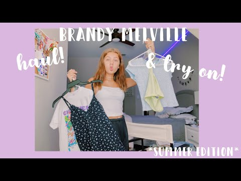 Brandy Melville Try On And Haul!