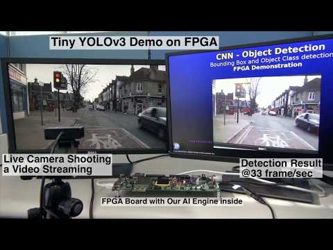 Tiny YOLOv3 running on FPGA - YouTube