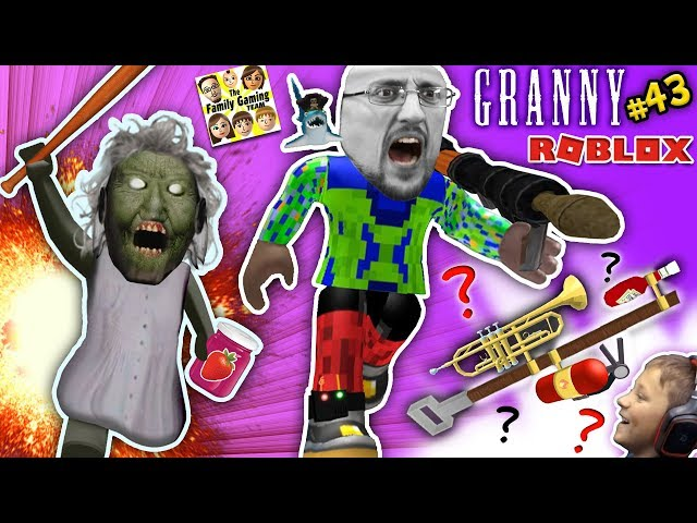 GRANNY LETS ME ESCAPE for TOP SECRET MISSION @ her SISTERS HOUSE!  FGTEEV ROBLOX #43