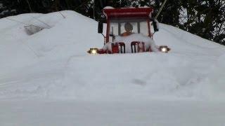 Schnee schieben extrem | snow plowing extreme