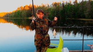 Семейная рыбалка и отдых на Раздолинском озере. Ленинградская область. Рыбалка видео