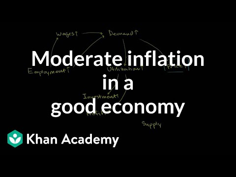 Moderate inflation in a good economy | Inflation | Finance & Capital Markets | Khan Academy