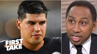 Stephen A. is happy the Steelers benched Mason Rudolph for Duck Hodges | First Take