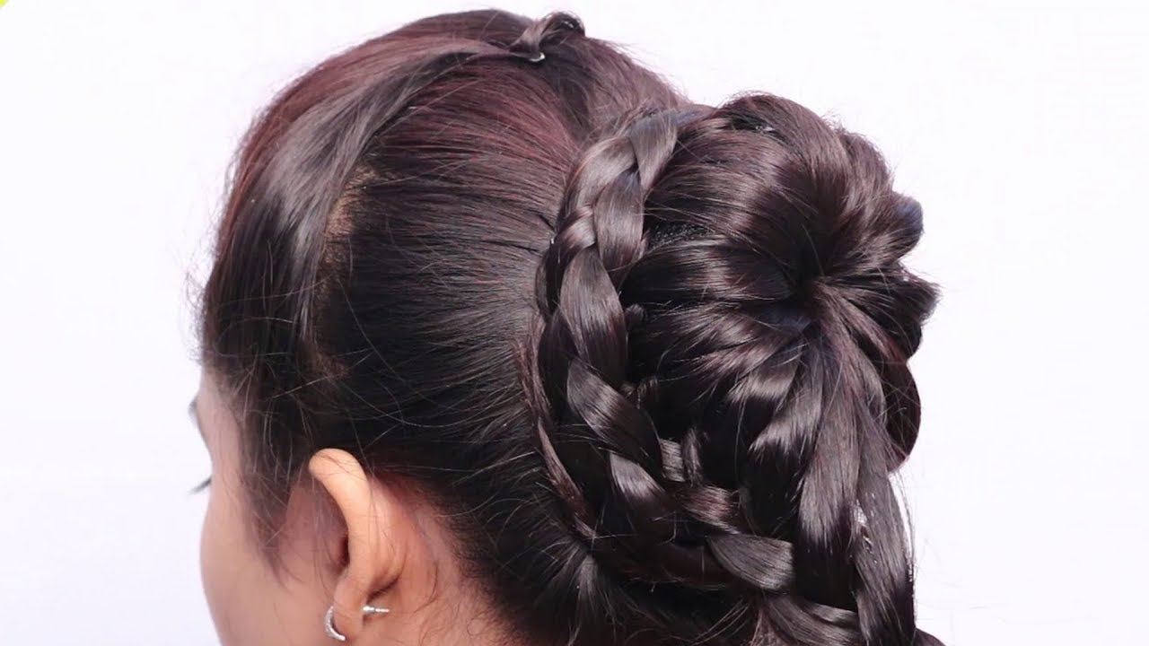 Quick hairstyle for wedding Ladies // Hairstyle for Girls // Cute hairstyles // Simple hairstyles