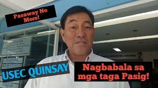 PASIG UPDATE: Plano para sa Clearing Operation Kasama si Usec Quinsay